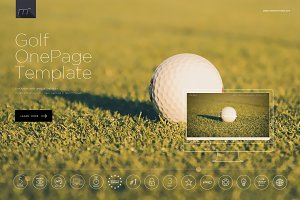 Golf - One Page Template