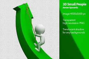 3D Small People - Arrow Upwards