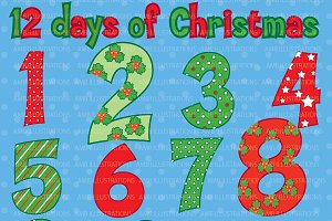 Christmas Numbers Cliparts AMB-354