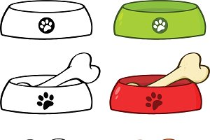 Dog Bowl Illustration Collection