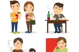 Bad habits. Drunkenness & overeating