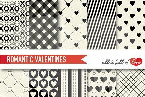 Valentines Day  Paper Black Ivory