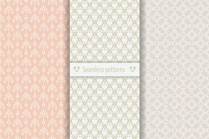 Set of seamless patterns