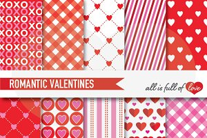 Valentines Day Backgrounds Red Pink