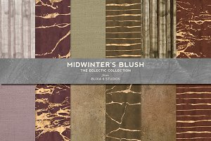 Midwinters Blush Gold & Watercolor