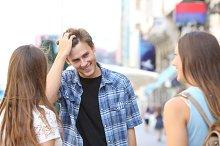 Man flirting with girls in the street.jpg