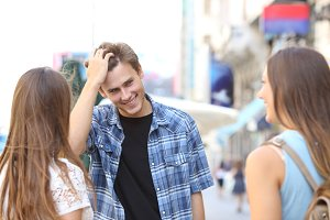 Man flirting with girls in the street.jpg