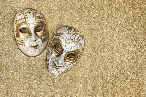 Carnival mask harlequin. Mardi gras