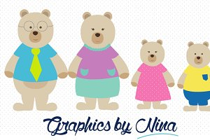 Bear Family Clipart