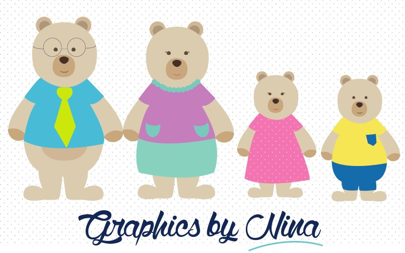 Bear Family Clipart ~ Illustrations ~ Creative Market