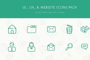 UI, UX, & WEBSITE ICONS PACK