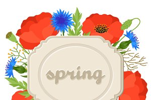 Backgrounds with spring flowers.