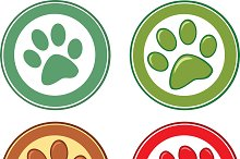 Dog Paw In Circle Collection