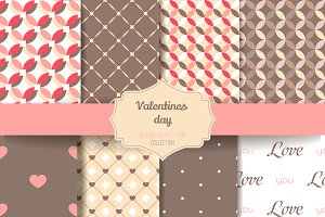 8 Valentine Seamless patterns V.1
