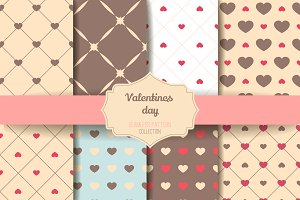 8 Valentine Seamless patterns V.2