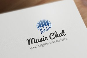 Music Chat Logo Template