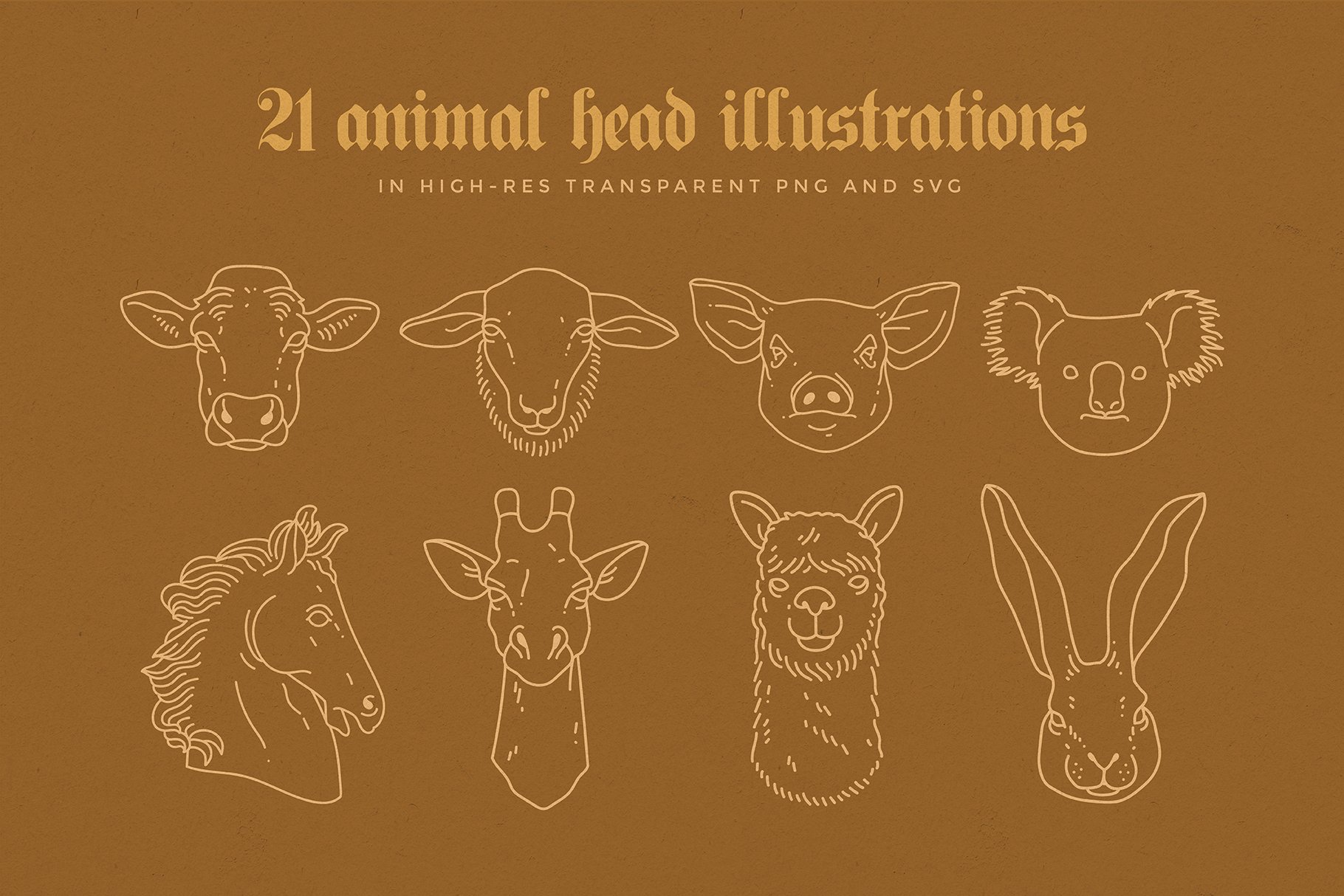 animal linear logo illustrations preview 02