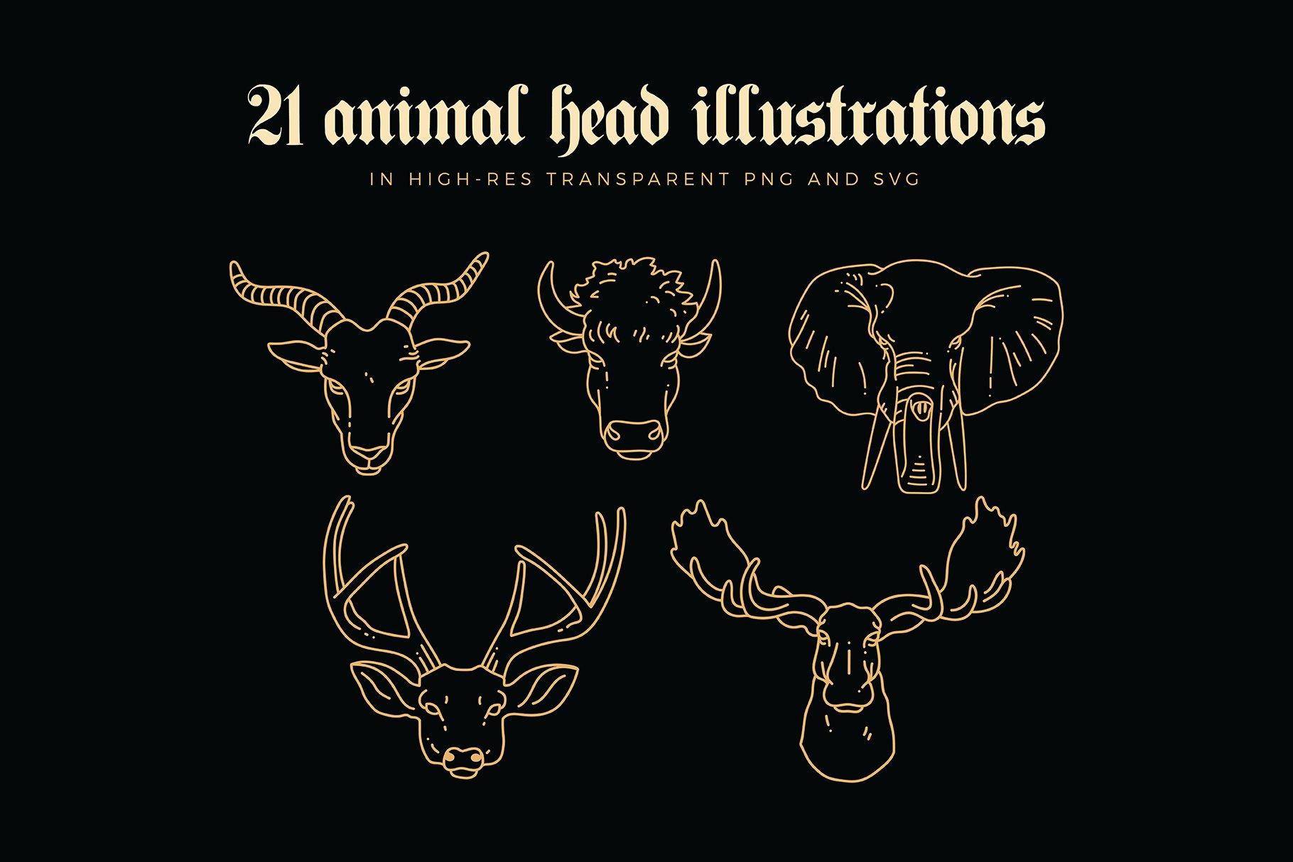 animal linear logo illustrations preview 03
