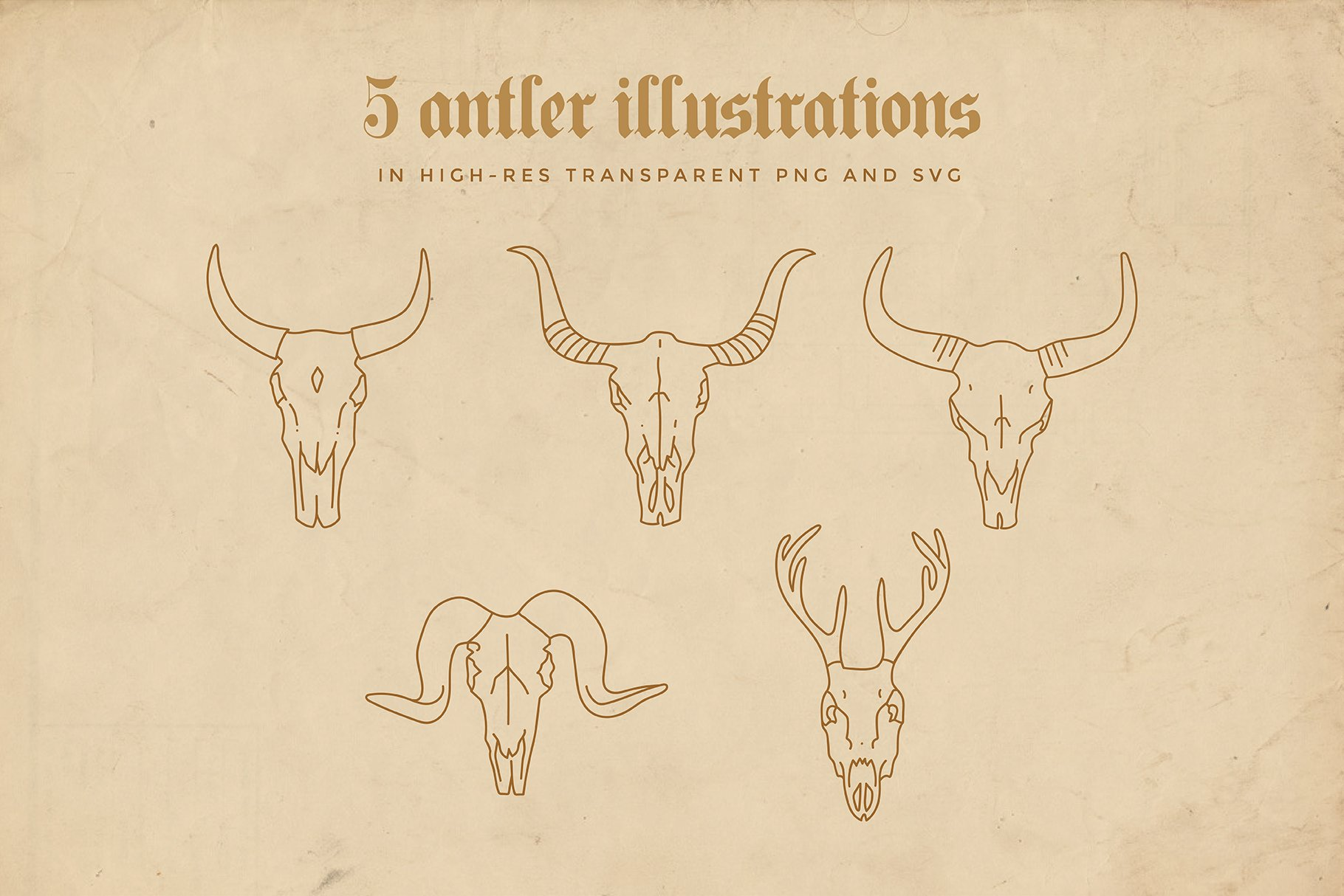animal linear logo illustrations preview 04