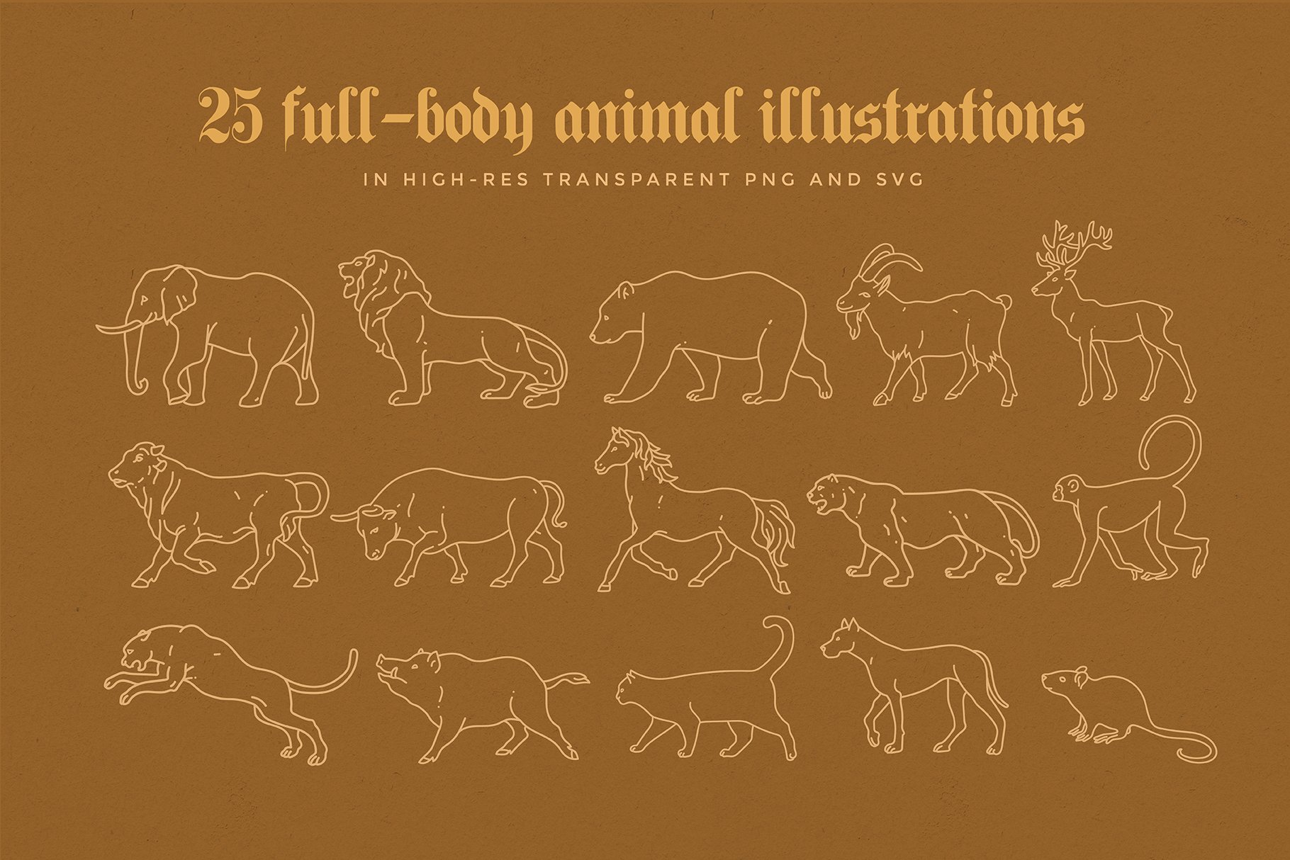 animal linear logo illustrations preview 05