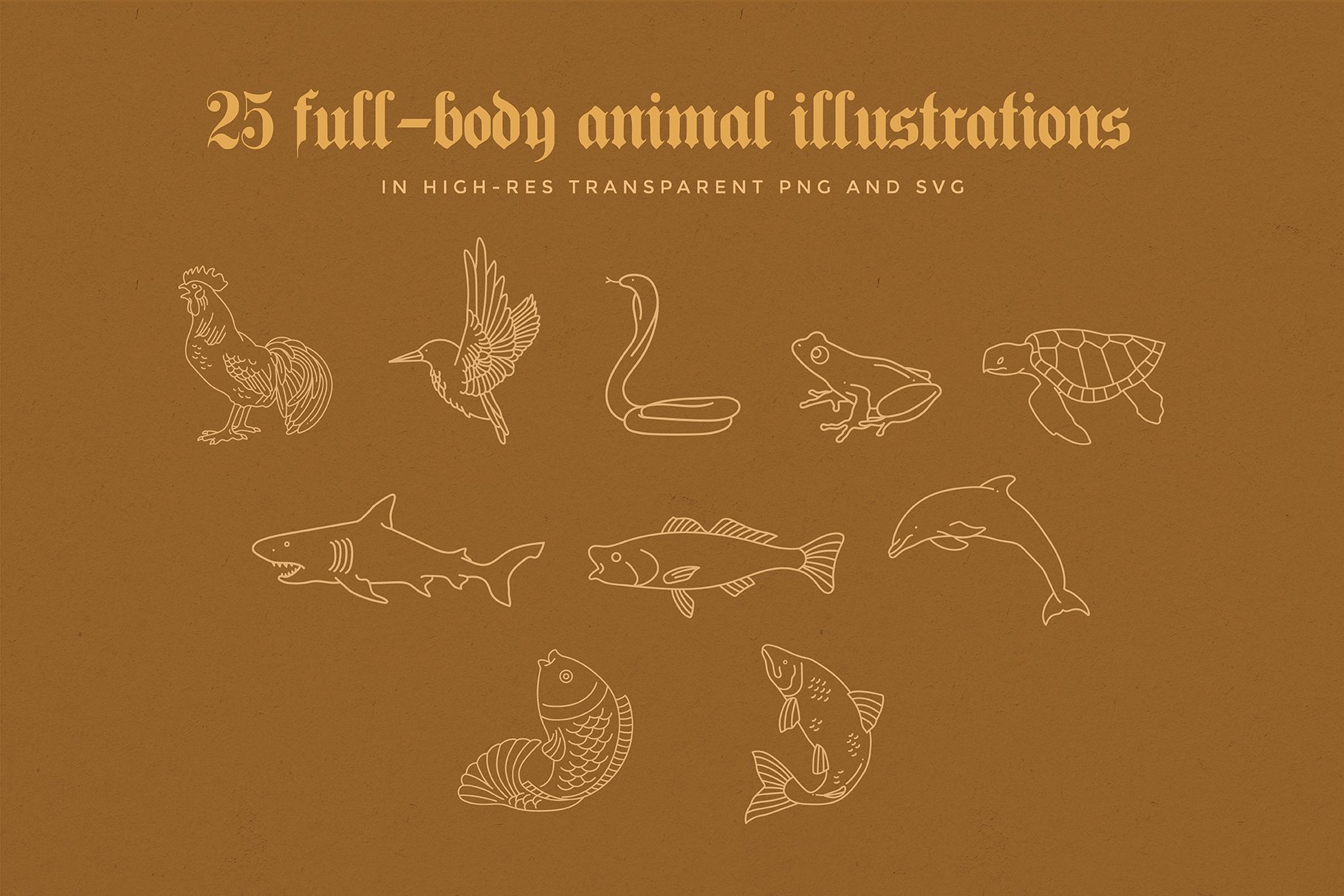 animal linear logo illustrations preview 06