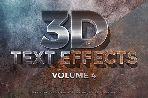 3D Text Effects Vol.4
