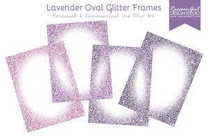 Lavender Oval Glitter Frames