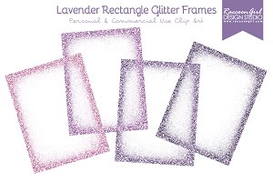 Lavender Rectangle Glitter Frames