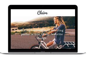 Clean Wordpress Blog Template Claire