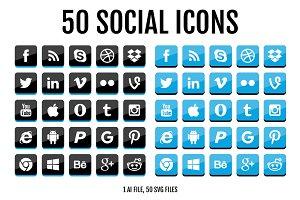 50 Social Media & Logo Icons