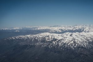 Andes Mountain Range at Summer