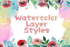 30 Watercolor Layer Styles
