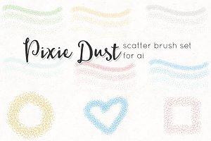 pixie dust scatter brushes