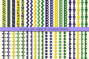 Mardi Gras Digital Border Set