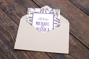 Lavender elegant card collection.