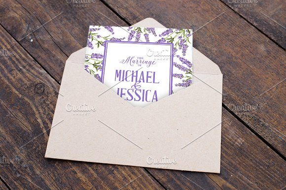 Lavender elegant card collection. in Wedding Templates