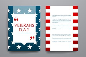 Veterans day. Brochure Templates