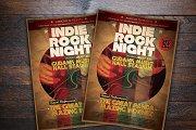 Indie Rock Night Flyer