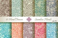 10 Ornate Seamless Florals. Set #1