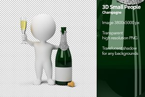 3D Small People - Champagne