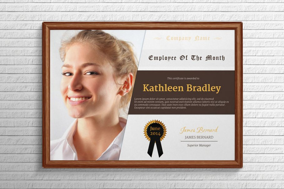 Employee Of The Month Template | Employee Of The Month Certificate Stationery Templates Creative
