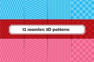 Set of seamless 3D pattern