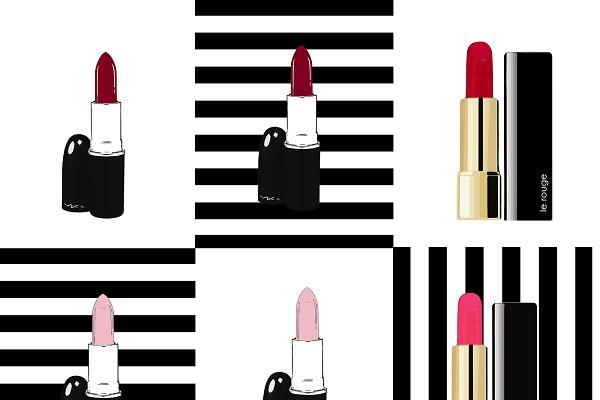 High heels+lipsticks