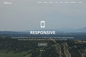 Fullscreen - Single Landing Page