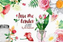 Love Me Tender - 23 illustrations