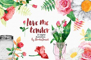 Love Me Tender - 23 illustrations