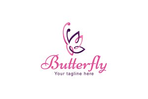 Butterfly - Beautiful Insect Logo
