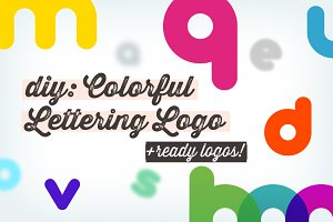 DIY: Colorful Lettering Logo+samples