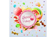 Sweet candy label