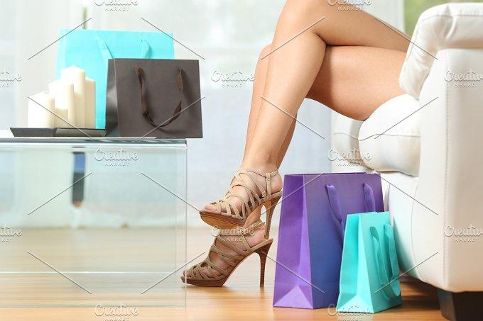 Fashion shopper legs with shopping bags.jpg - Beauty & Fashion
